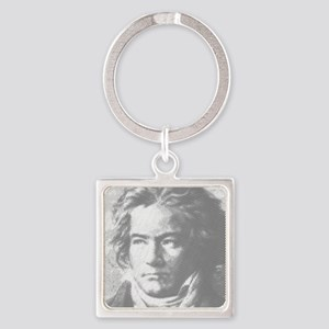 Beethoven Portrait Square Keychain