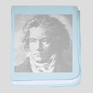 Beethoven Portrait baby blanket