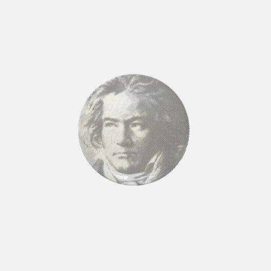 Beethoven Portrait Mini Button (10 pack)