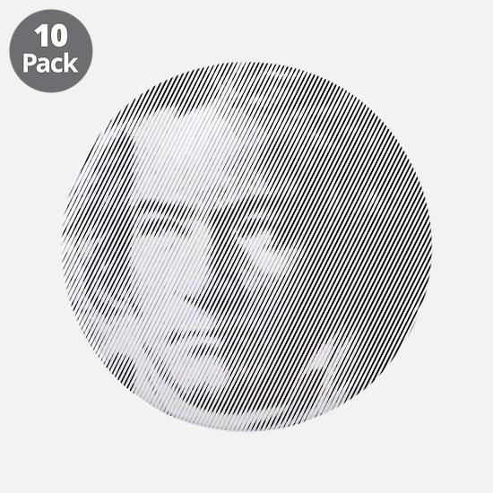 "Beethoven Portrait 3.5"" Button (10 pack)"