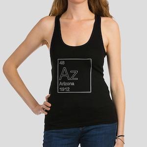 Arizona as State on Periodic Ta Racerback Tank Top