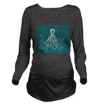 Octopus Long Sleeve Maternity T-Shirt