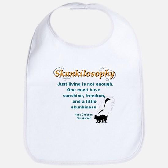 Skunkilosophy Just Living Bib