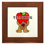 Teachers Apple Bear Framed Tile