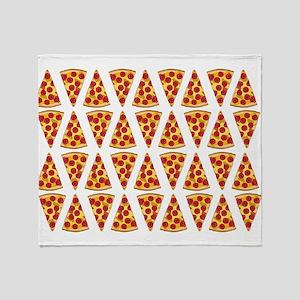 Pepperoni Pizza Slices Throw Blanket