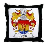 Aviles Family Crest Throw Pillow