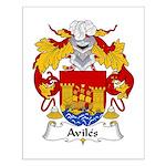Aviles Family Crest Small Poster