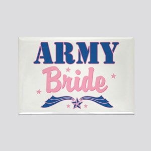 Star Army Bride Rectangle Magnet