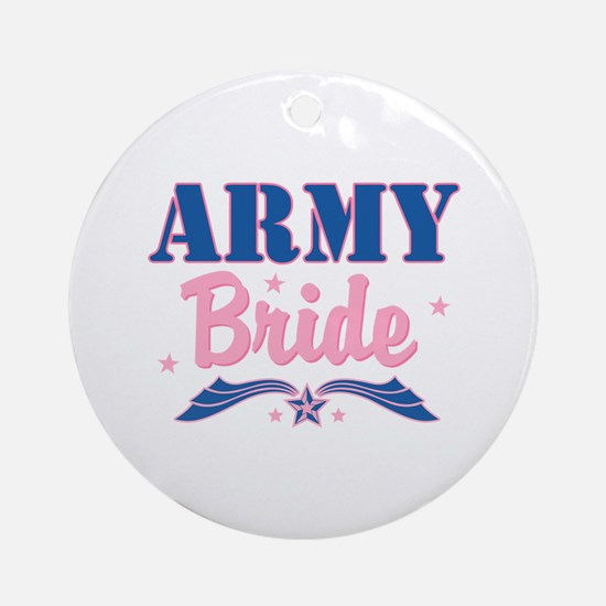 Star Army Bride Ornament (Round)