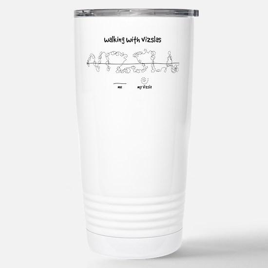 Walking With Vizslas Stainless Steel Travel Mug