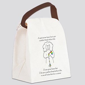 wise spinner Canvas Lunch Bag