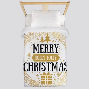 Happy Christmas Twin Duvet Cover
