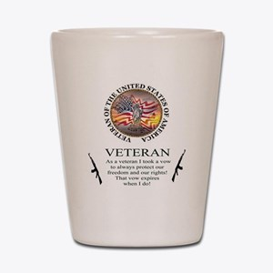 Veteran's Vow Shot Glass