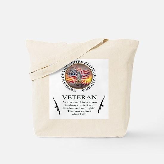 Veteran's Vow Tote Bag