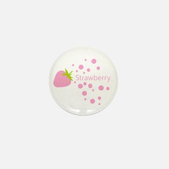 Pink strawberry Mini Button