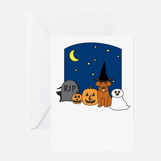 Toller Halloween Greeting Card