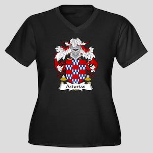 Asturias Family Crest Women's Plus Size V-Neck Dar