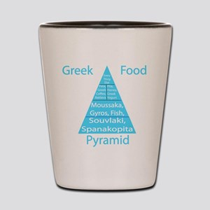 Greek Food Pyramid Shot Glass
