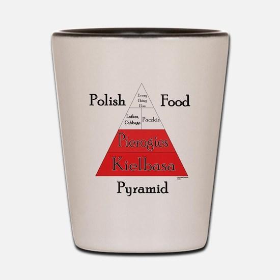 Polish Food Pyramid Shot Glass