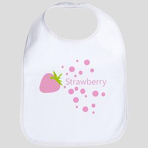 Pink Strawberry Bib