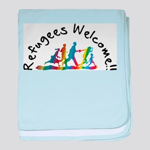 Refugees Welcome baby blanket