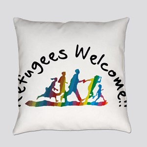 Refugees Welcome Everyday Pillow