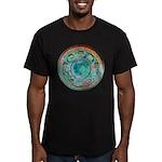 Solar Wheel Men's Fitted T-Shirt (dark)