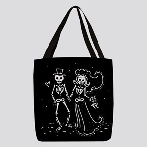 skel-couple_13-5x18 Polyester Tote Bag