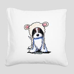 Coton De Tulear Lamb Square Canvas Pillow