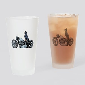 Dobercycle Drinking Glass