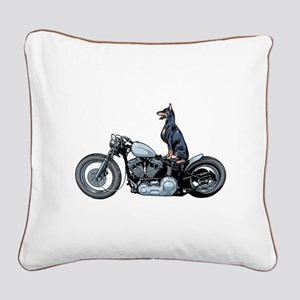 Dobercycle Square Canvas Pillow