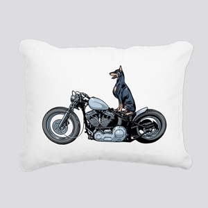Dobercycle Rectangular Canvas Pillow