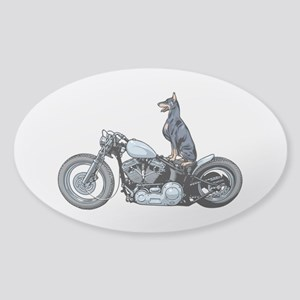 Dobercycle Sticker (Oval)