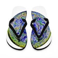 Blue Wheel Flip Flops