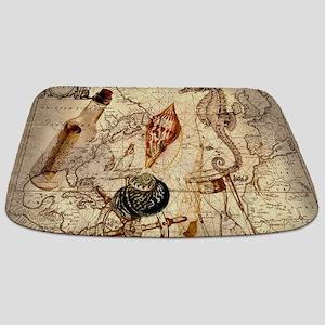 vintage nautical seashells sailor Bathmat