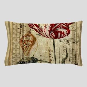 seashells tulip french botanical Pillow Case