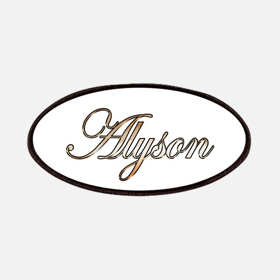 Gold Alyson Patch