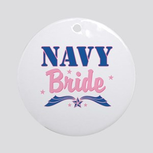 Star Navy Bride Ornament (Round)