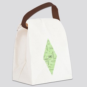 Sims Plumbob Typography Canvas Lunch Bag