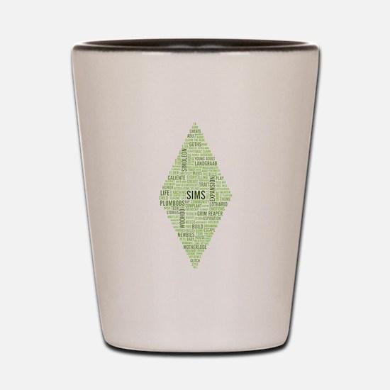 Sims Plumbob Typography Shot Glass