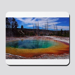 Ice Gold & Green Water Mousepad