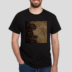 western black lace burlap T-Shirt