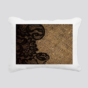 western black lace burla Rectangular Canvas Pillow