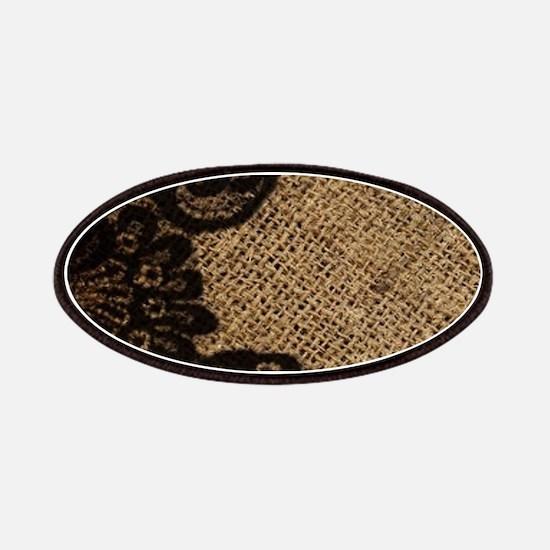 western black lace burlap Patch