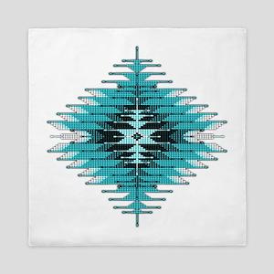 Native Style Turquoise Sunburst Queen Duvet