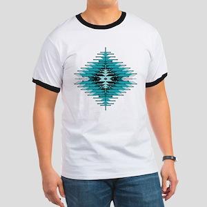 Native Style Turquoise Sunburst Ringer T