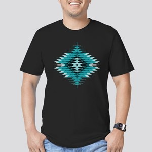 Native Style Turquoise Men's Fitted T-Shirt (dark)