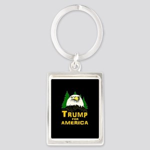 Trump for America Portrait Keychain