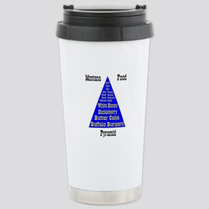 Montana Food Pyramid Stainless Steel Travel Mug