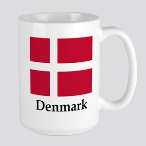 Denmark Flag Large Mug